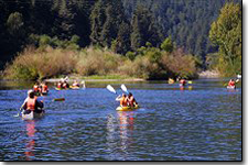 Canoeing along Russian River